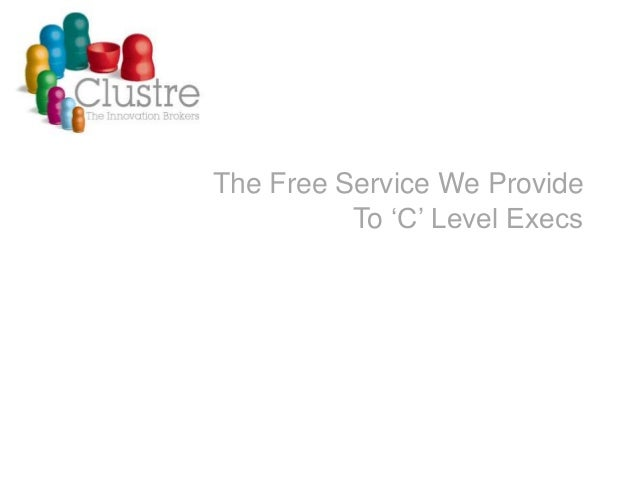 The Free Service We Provide To 'C' Level Execs