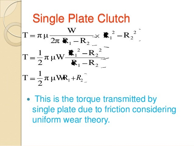 Design Of Single Plate Clutch Pdf