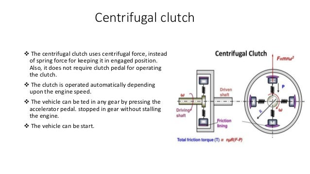 How to works a centrifugal clutch