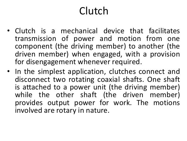 Clutches for automobile  Slide 2