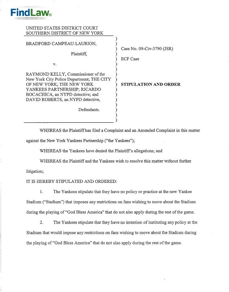 FindLaw | Yankees to pay fan 10K and 12K in attorneys fees in civil rights case