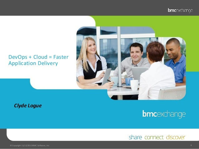 DevOps + Cloud = Faster Application Delivery  Clyde Logue  © Copyright 11/12/2013 BMC Software, Inc  1