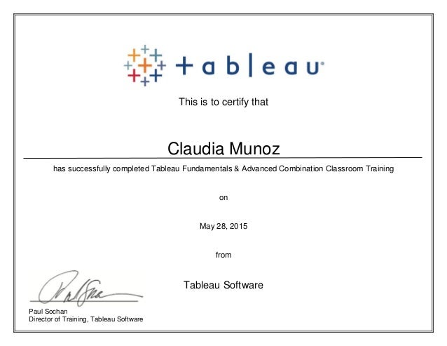 tableau certification slideshare upcoming