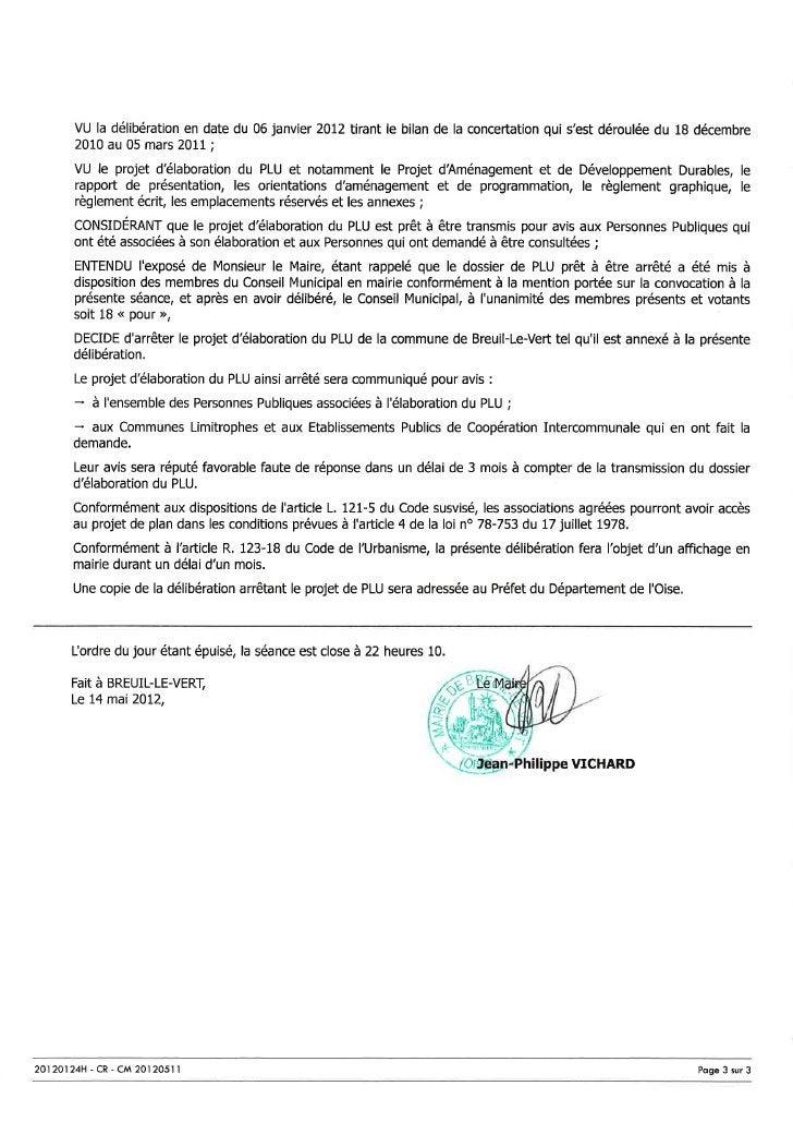 Conseil Municipal du vendredi 11 mai 2012 : le compte-rendu