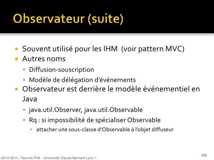 Créateur : discussion<br /><ul><li>Guide pour attribuer une responsabilité pour la création d'objets