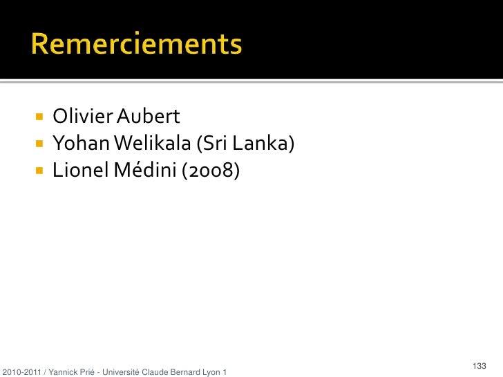 …</li></ul>2010-2011 / Yannick Prié - Université Claude Bernard Lyon 1   <br />30<br />
