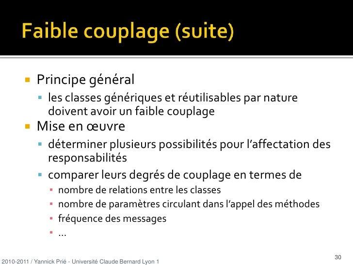 Plan<br />Introduction sur les patterns<br />Patrons GRASP<br />Design patterns<br />2010-2011 / Yannick Prié - Université...