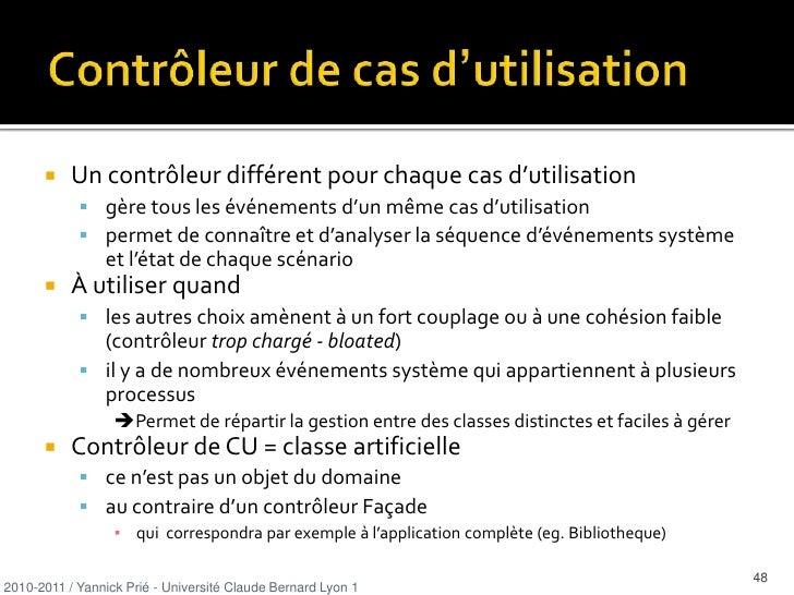 les méthodes s'acquittent des responsabilités</li></ul>2010-2011 / Yannick Prié - Université Claude Bernard Lyon 1   <br /...