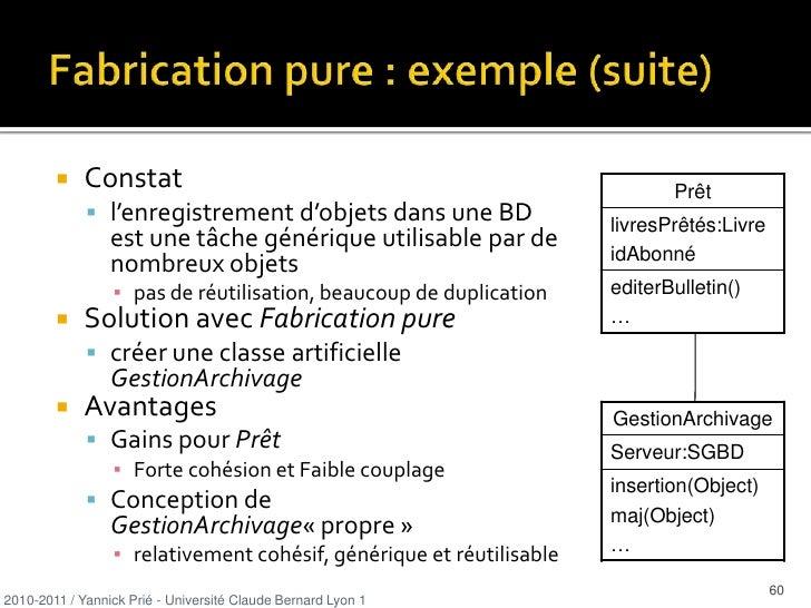 Expert (GRASP) <br />Problème<br />Quel est le principe général d'affectation des responsabilités aux objets ? <br />Solut...