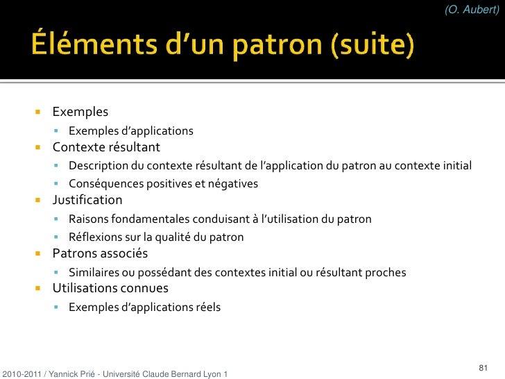 classes légères, faciles à comprendre, à maintenir, à réutiliser</li></ul>2010-2011 / Yannick Prié - Université Claude Ber...