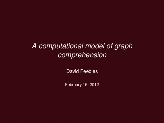A computational model of graph comprehension David Peebles February 15, 2012