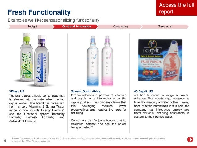 Consumer And Innovation Trends In Bottled Water