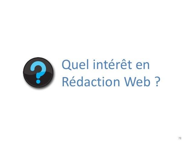 78 Quel intérêt en Rédaction Web ?