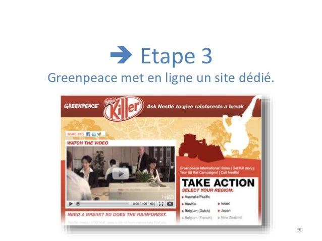 90 Greenpeace met en ligne un site dédié.  Etape 3