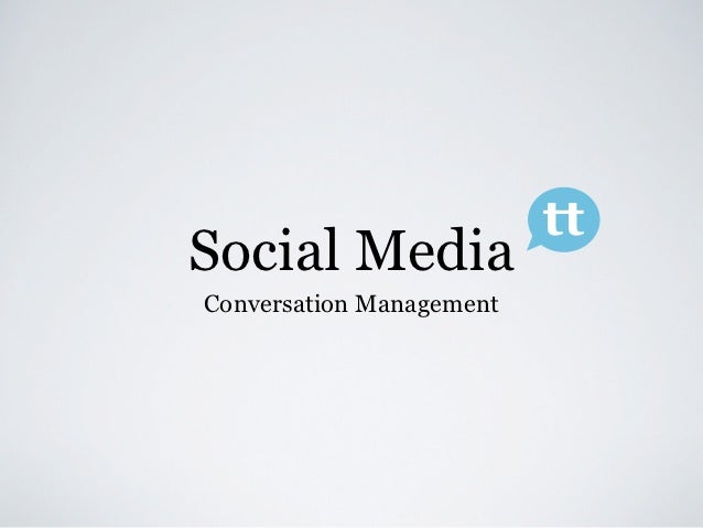 ttSocial MediaConversation Management