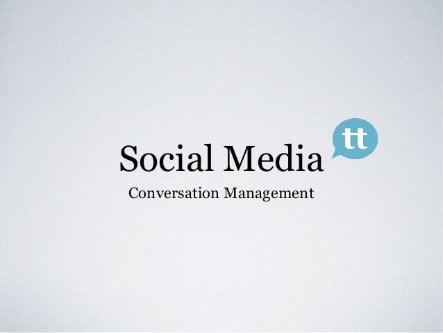 Social MediaConversation Management