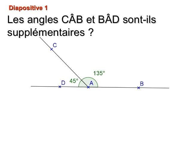 Diapositive 1Diapositive 1 Les angles CLes angles CÂB etÂB et BBÂDÂD sont-ilssont-ils supplémentairessupplémentaires ??