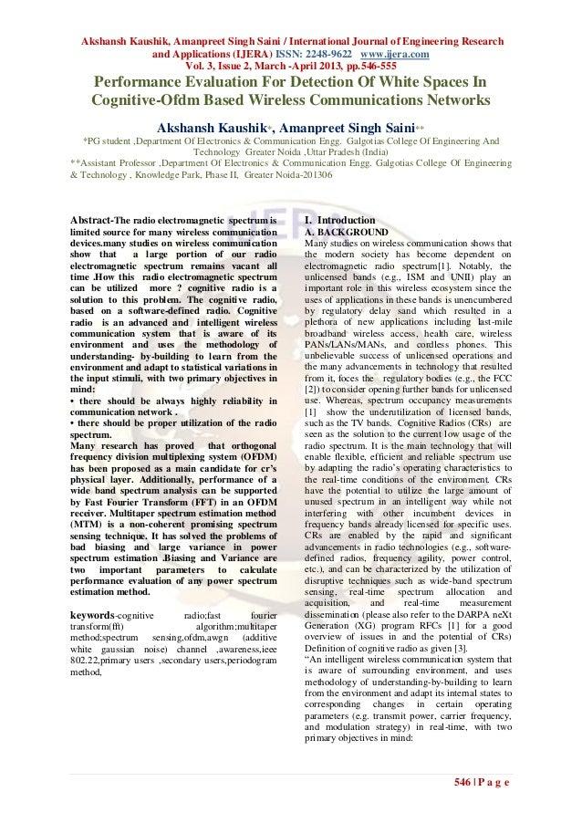 Akshansh Kaushik, Amanpreet Singh Saini / International Journal of Engineering Research               and Applications (IJ...