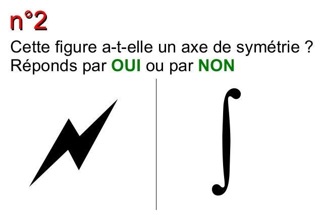 nn°°22  Cette figure a-t-elle un axe de symétrie ?  Réponds par OUI ou par NON   