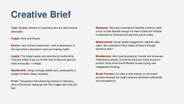 dove creative brief See the 10 key aspects needed to produce a creative brief that is effective and will help ensure your next project is a success.