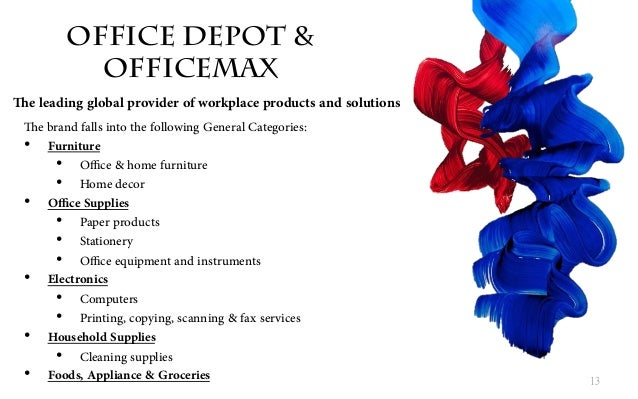 office depot offcemax pitch