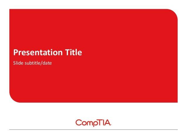 Presentation Title Slide subtitle/date