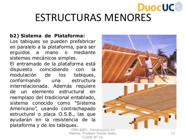 Construccion en madera clase n 10 for Construccion en madera
