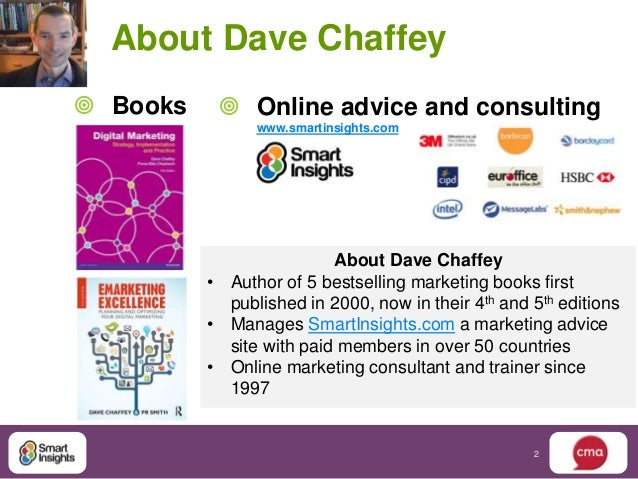 About Dave Chaffey Books     Online advice and consulting                www.smartinsights.com                          ...