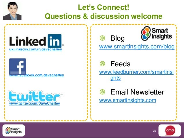 Let's Connect!                    Questions & discussion welcome                                  Bloguk.linkedin.com/in/...
