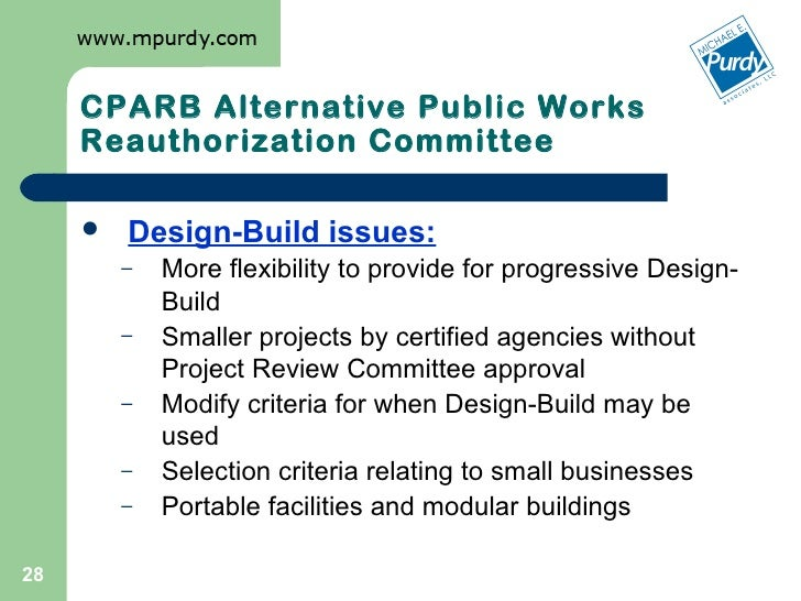 Washington State Progressive Design Build