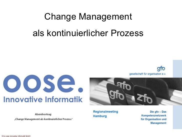 Change Management als kontinuierlicher Prozess