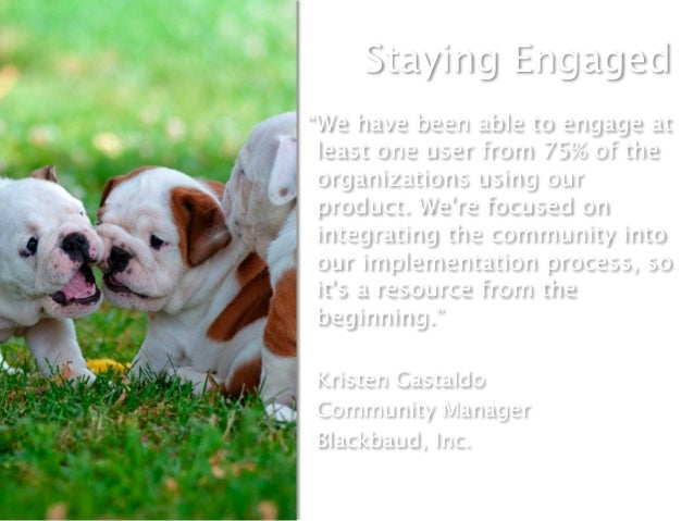 """Staying Engaged""""We have been able to engage atleast one user from 75% of theorganizations using ourproduct. Were focused o..."""