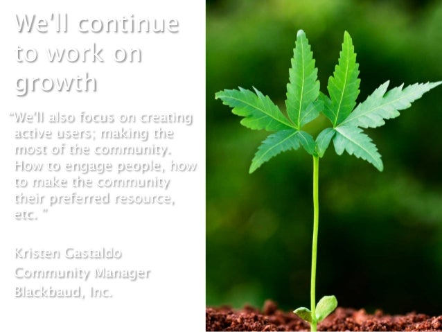"""Well continueto work ongrowth """"Well also focus on creating active users; making the most of the community. How to engage p..."""