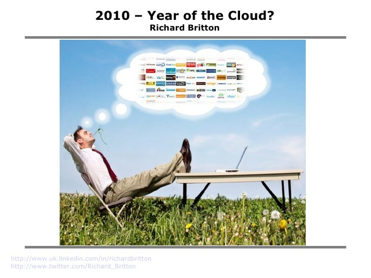 2010 – Year of the Cloud? Richard Britton