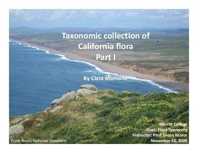 Taxonomiccollectionof                               Californiaflora                                    PartI       ...