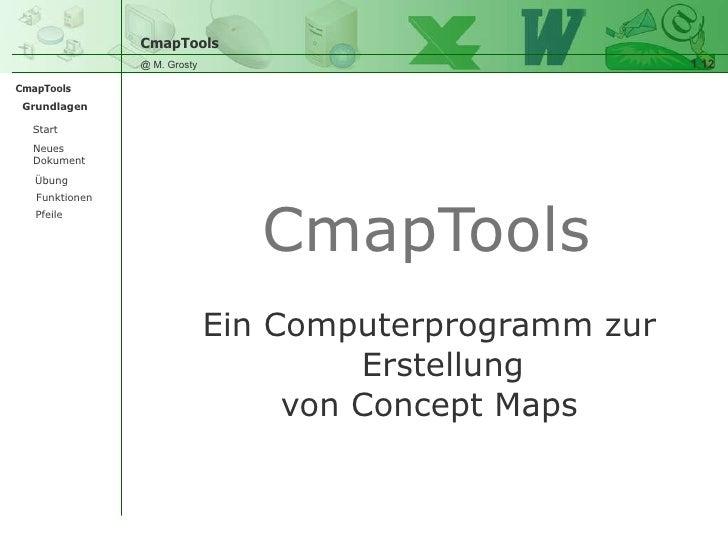 <ul><li>Ein Computerprogramm zur Erstellung </li></ul><ul><li>von Concept Maps </li></ul>CmapTools