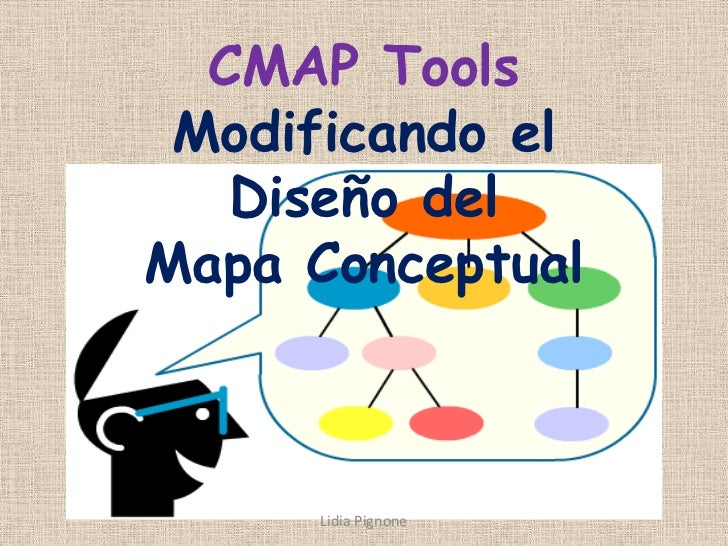 CMAP Tools Modificando el   Diseño delMapa Conceptual      Lidia Pignone