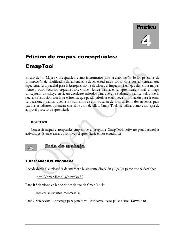 Práctica                                                                                        4 Edición de mapas concept...