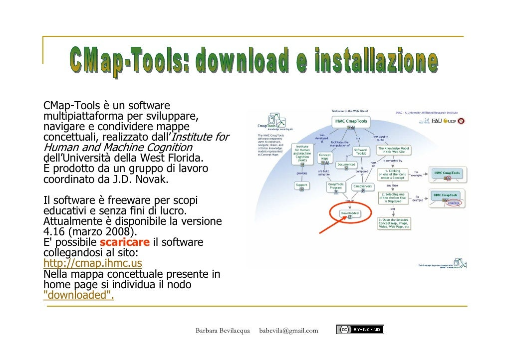 CMap-Tools è un software multipiattaforma per sviluppare, navigare e condividere mappe concettuali, realizzato dall'Instit...