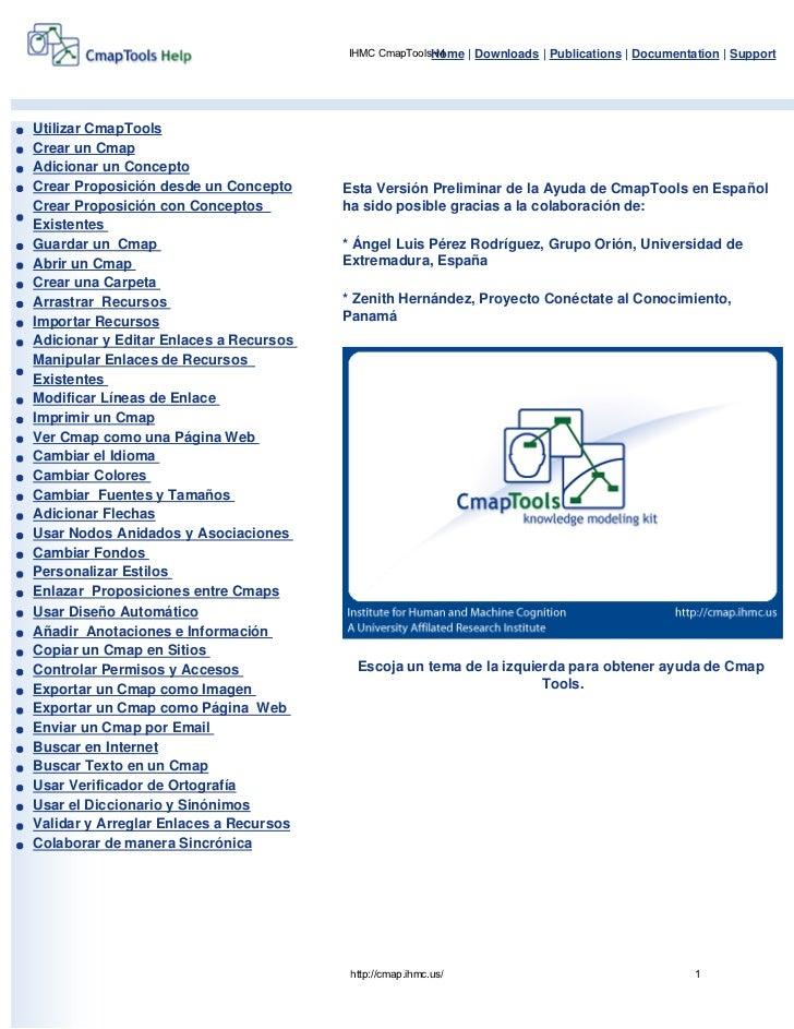 IHMC CmapToolsHome | Downloads | Publications | Documentation | Support                                                   ...