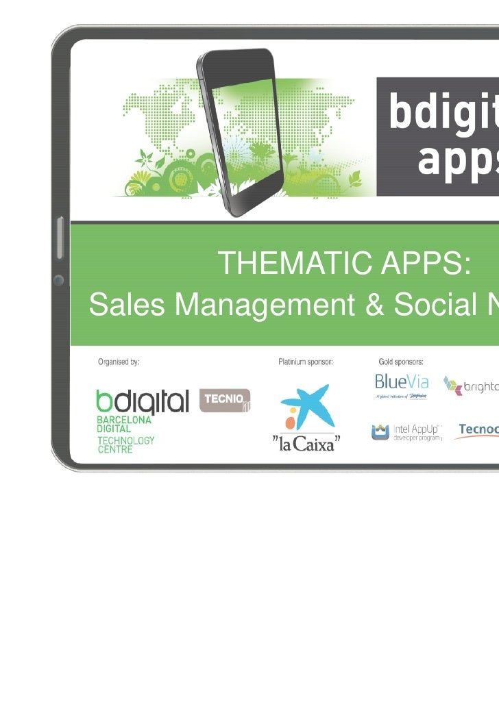 THEMATIC APPS:Sales Management & Social Network