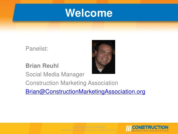 LinkedIn / Facebook / Twitter Best Practices for Construction Markets Slide 3