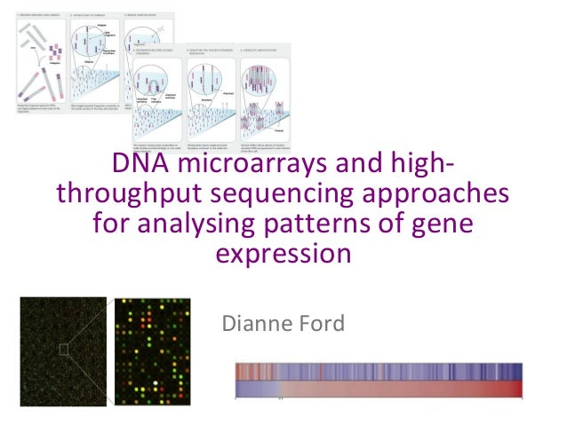 DNA microarrays and highthroughput sequencing approaches for analysing patterns of gene expression Dianne Ford