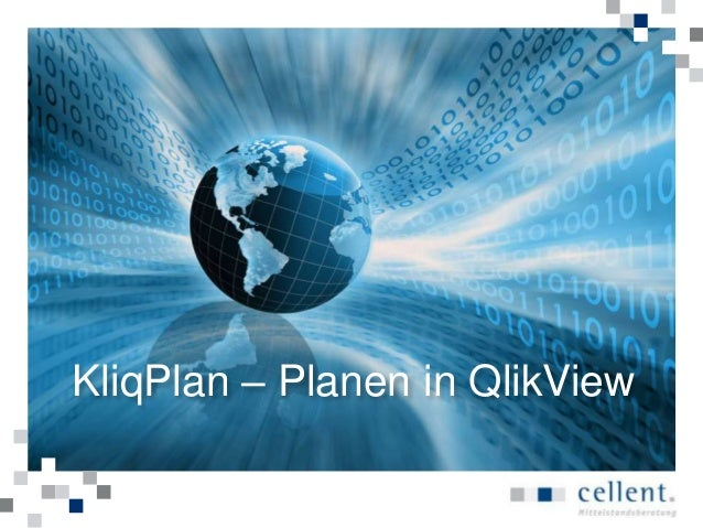 KliqPlan – Planen in QlikView