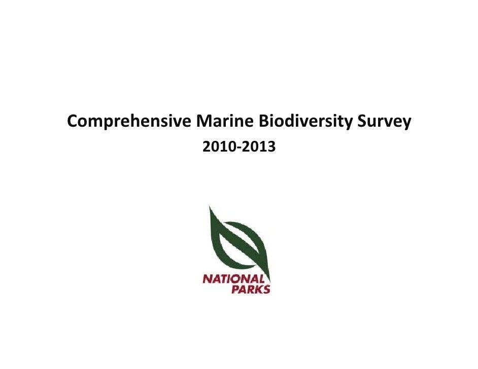 Comprehensive Marine Biodiversity Survey                2010‐2013