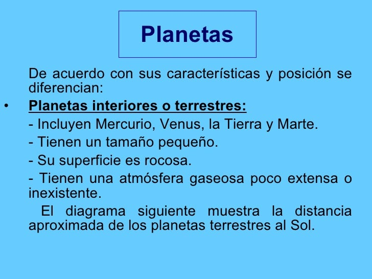 Formaci n y composici n del sistema solar - Caracteristicas de los planetas interiores ...