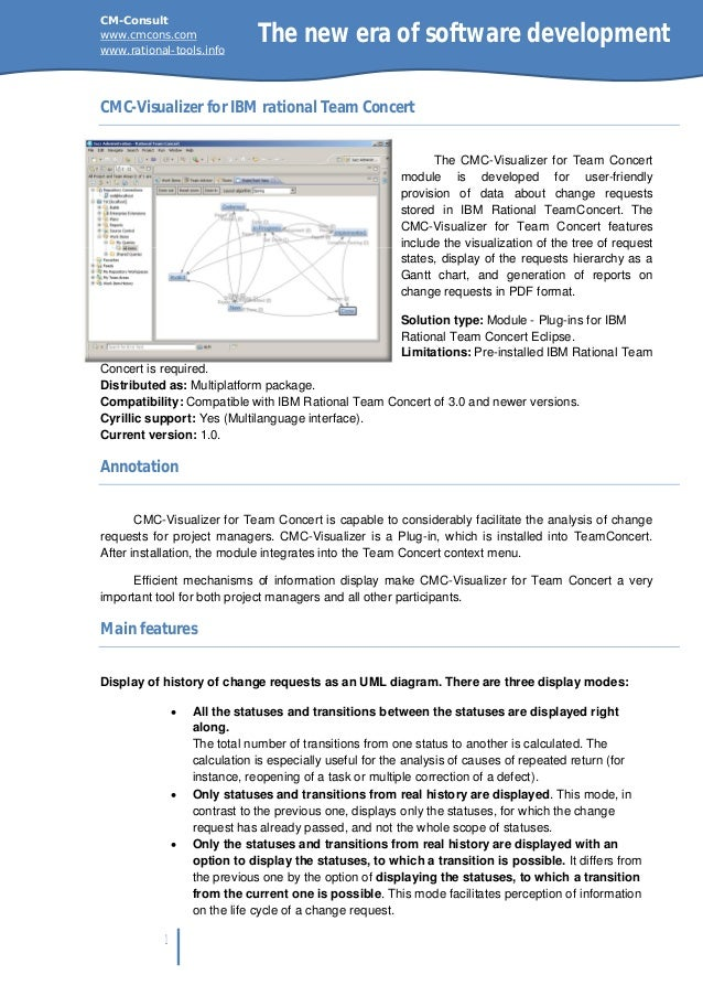 CM-Consultwww.cmcons.comwww.rational-tools.info                            The new era of software developmentCMC-Visualiz...