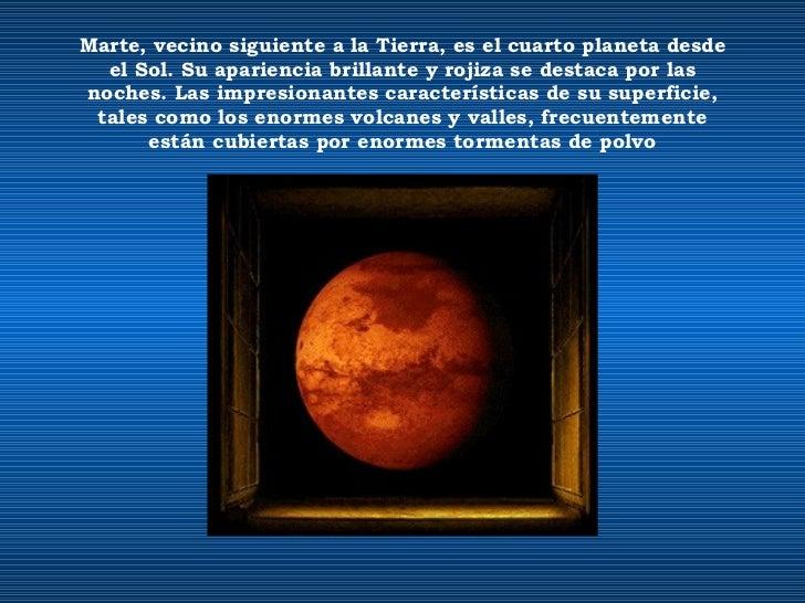 Un viaje por el universo el sistema solar - Caracteristicas de los planetas interiores ...