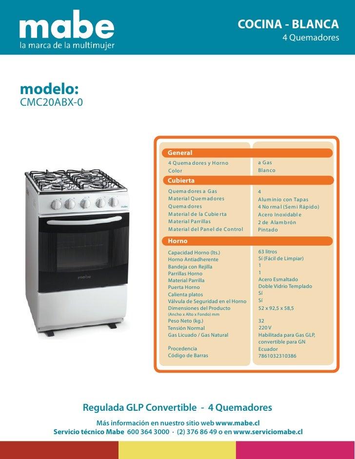 Cocina mabe cmc20abx 0 for Cuanto pesa lavadora