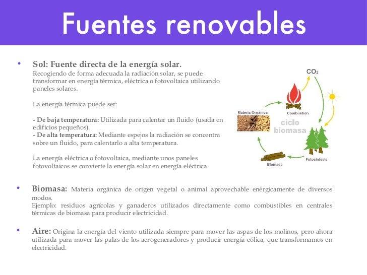 Fuentes renovables y energia sostenible Slide 2